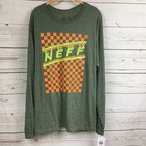 Men's Neff Fire and Checkered Tee